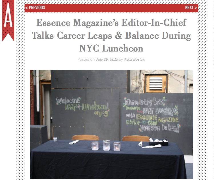 Her Agenda Discusses ESSENCE Magazine Editor's Appearance at Leap Luncheon